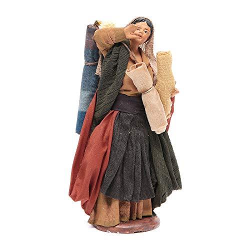 Holyart Donna con stoffe 14 cm presepe Napoletano