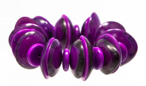 tagua-vegetable-ivory-elasticated-chunky-colourful-bracelet-purple-shaped-dics-fair-trade-and-handma