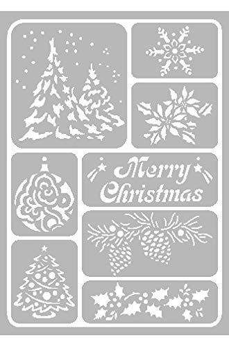 VBS Maler-Schablone Wandschablone Malschablone selbstklebend Weihnachten