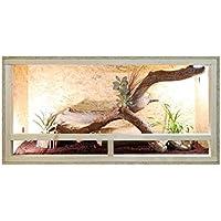 Terrario in legno Vivarium con vetro frontale e ventilazione–80cm x 40cm x 40cm