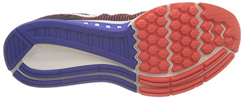 Nike Herren Air Zoom Structure 19 Laufschuhe, 9 EU Schwarz / Orange / Blau / Weiß (Schwarz / Segel-Ttl Hochrot-Rcr Bl)