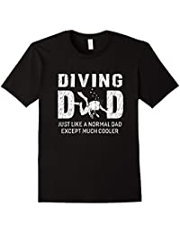 Diving Dad Gifts For Father Scuba Diving Men T-shirt