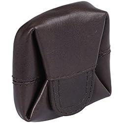 Monedero LOUANA, de cuero, marrón 5x5cm