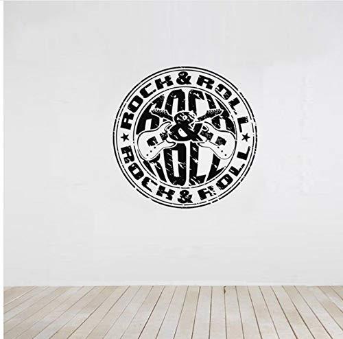 56X56cm Rock Roll Stempel Dekoration Wandaufkleber Für Wohnzimmer Kunst Tapete Aufkleber Schlafzimmer Wandbilder Aufkleber Poste