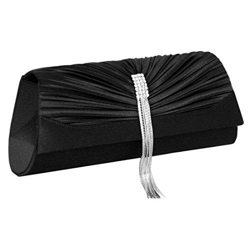 Pochettes , sac de soirée , Clutch bag Satin / Mod. 2100 by fashion-formel Black