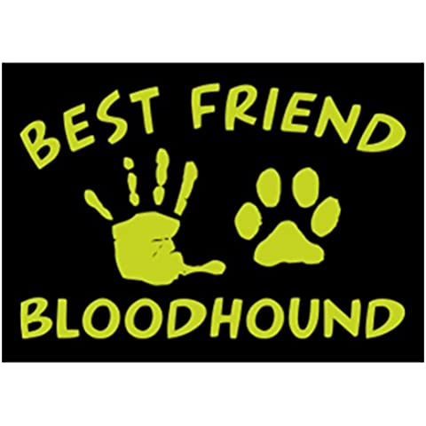 Teeburon MY BEST FRIEND IS MY Bloodhound Sticker Pacchetto di 4