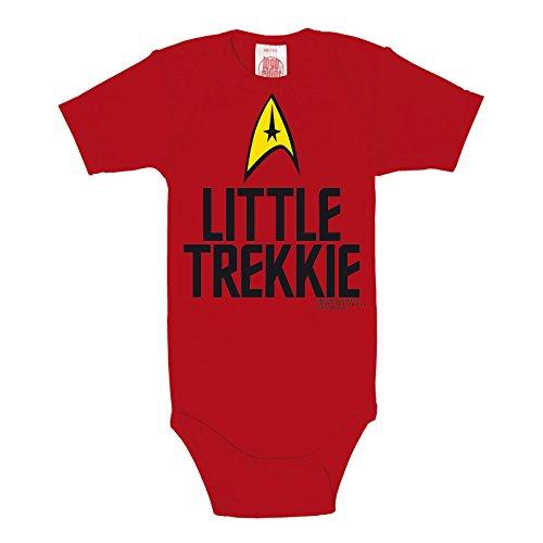 Star Trek Little Trekkie Baby Body Markenqualität rot Baumwolle - 62/68 (Starfleet Uniform Farben)