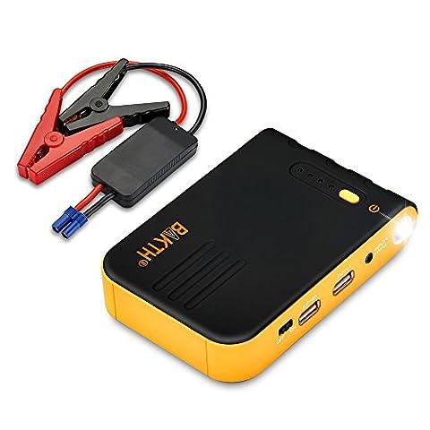 BAKTH AUTO EPS Mini Multi Function Portable 8800mAh Démarreur de voiture avec batterie de secours de pointe 400A Batterie externe Batterie externe Chargeur avec lampe de poche LED pour téléphone portable Téléphone portable Appareil photo numérique iPad Caméscope et plus