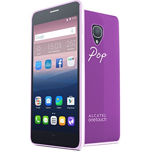 TBOC® Lila Gel TPU Hülle für Alcatel One Touch Pop Up Ultradünn Flexibel Silikonhülle
