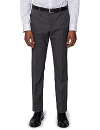 DKNY Men`s Slim Fit Charcoal Nailhead Suit Trousers