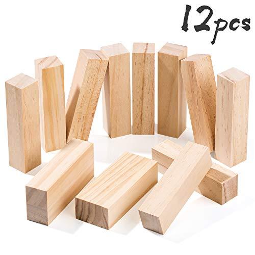Bloques Talla Madera Yangbaga 12pcs Kit Talla Madera