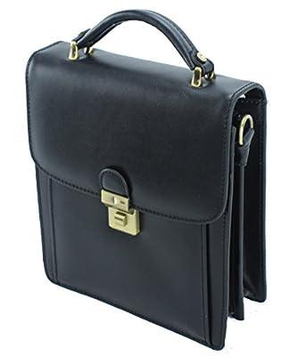 Frédéric&Johns® - Sacoche homme cuir de vachette - baisenville - vide poches - sac porté main homme - petit sac en cuir - bandoulière à l'intérieur - haut de gamme