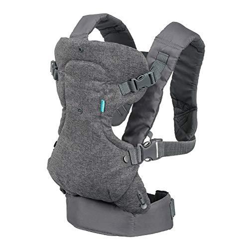 Infantino Flip Advanced 4 in 1 Babytrage, Baby Carrier, grau