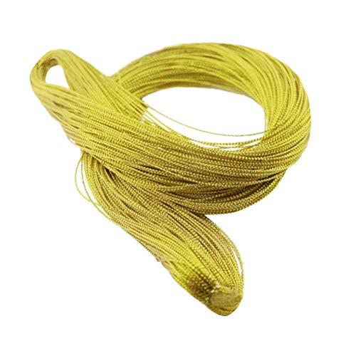 STOBOK 1mm 100 Yarda cordón metálico Hilo joyería