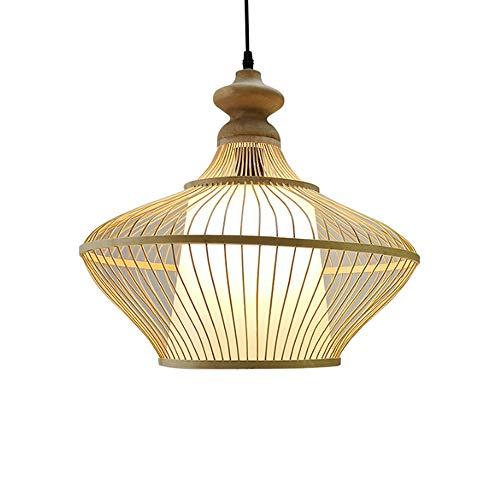 QLG&S Farolillo LED de bambú, lámpara Hecha a Mano de la Vendimia Tengzhu Simple Linterna Pasillo Pasillo Restaurante Luz de Techo