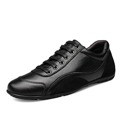 Chaussure au Loisir Homme Basse a Lacets Chaussure en Cuir de Ville Plate