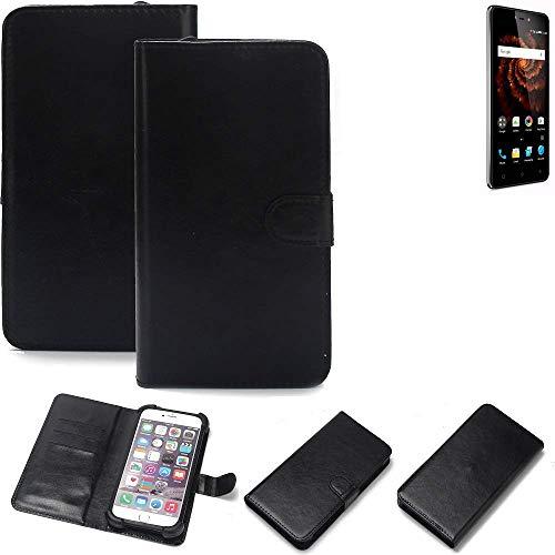 K-S-Trade Wallet Case Handyhülle Allview X3 Soul Lite Schutz Hülle Smartphone Flip Cover Flipstyle Tasche Schutzhülle Flipcover Slim Bumper schwarz, 1x