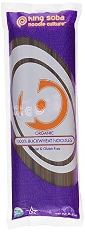 King Soba Organic Buckwheat Noodles 250 Grams (Pack of 6)