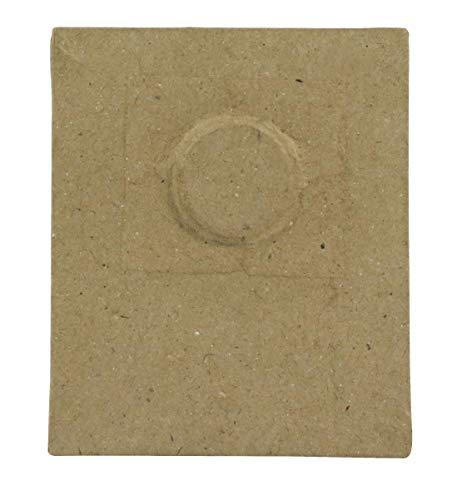 Décopatch CD011O Rahmen magnetisch (aus Pappmaché zum Verzieren und Personalisieren, rechteckig, 8 x 9 cm, ideal für Ihre Bilder 6,5 x 6,5 cm) 1 Stück kartonbraun