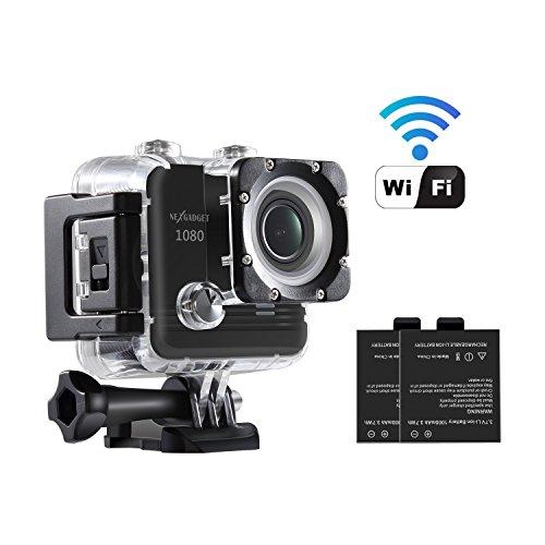 NEXGADGET Cámara Deportiva Wifi 16MP 1080P Impermeable DV Videocámara Gran...