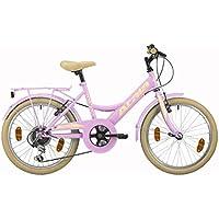 Bicicleta de niña Atala Toscana, 6 velocidades, color rosa, ...