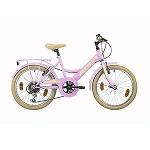 "41HZuOy3CrL. SS300 Atala Bicicletta da Bambina Toscana, 6 velocità, Colore Rosa, Misura 20"""
