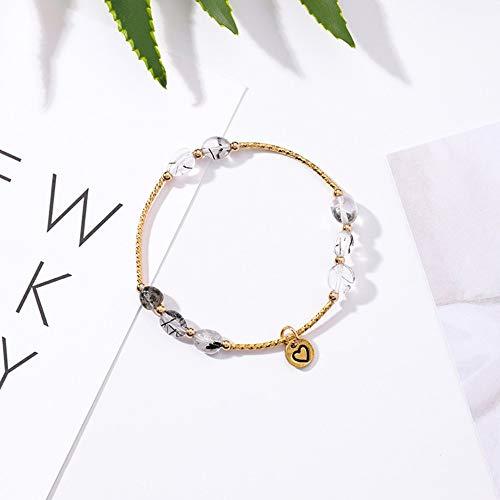 Armband,Natürliches Einfaches Temperament Unregelmäßiges Graues Kristallperlenarmband Des Einzelnen Kreises, Handgemachtes Kreatives Hängendes Armbandfrau, Personifiziertes Kleidungszubehör