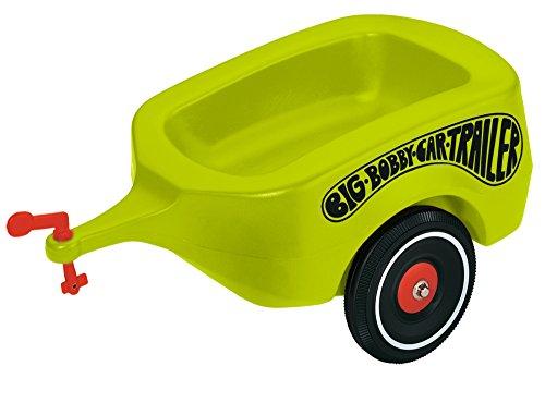 BIG 800056275 - Bobby Car Trailer Anhänger, grün