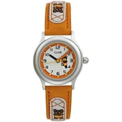 Club Kinder - Armbanduhr Analog Quarz Lernuhr Nickelfrei Teddy orange A58846S17A