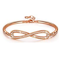 Lady Colour Infinity Bracelet For Women With Crystals From Swarovski