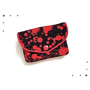 Mini Portemonnaie Geldbörse Blutspritzer Halloween schwarz rot