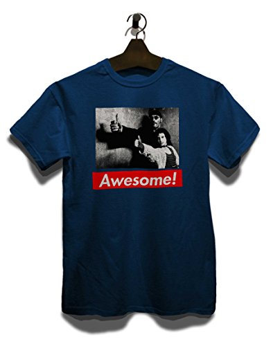 Awesome 46 T-Shirt Navy Blau
