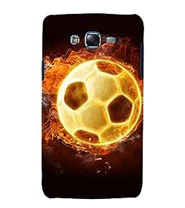printtech Flaming Football Back Case Cover for Samsung Galaxy E5 / Samsung Galaxy E5 E500F
