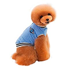 Dogs Costume, erthome Thick Pet Dogs Mini Baseball Cotton Clothes Coat Puppy