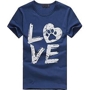 Tosonse T-Shirt Frauen Shirts Sommer Tops Casual Druck Tunika Lässig Blusen Kurzarm O-Ausschnitt Tee