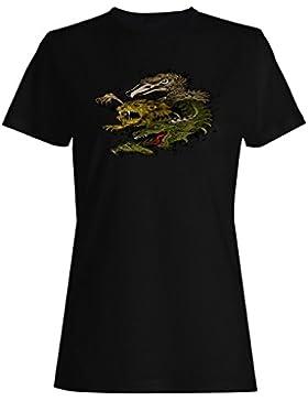 Dragón, león y cabeza de águila nuevo arte camiseta de las mujeres oo61f