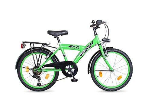 20 ZOLL Kinder City Fahrrad Bike Rad Kinderfahrrad Citybike Cityfahrrad STVO CRAZY GRÜN 6 GANG