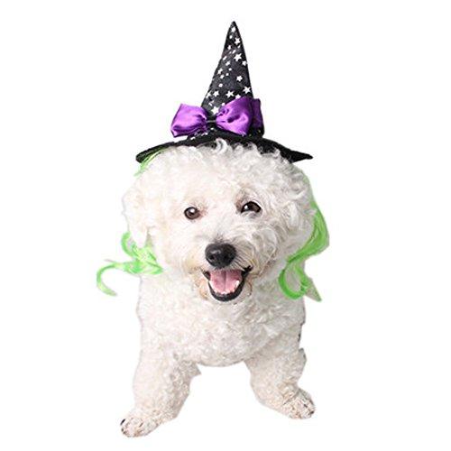 WiseGoods Haustiermütze, Hexenkostüm, Hüte, Cosplay, Hund, Katze, Welpen, Haar-Accessoires, Halloween, Weihnachten