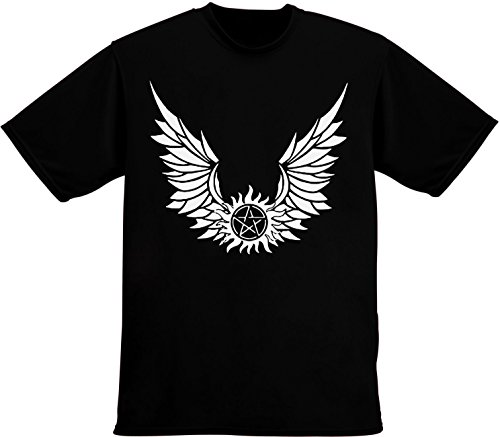 Pentagram With Wings Men's T-Shirt Large