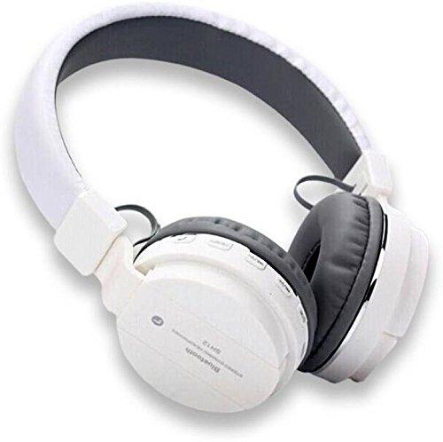 4f76384e3e2 32% OFF on Generic SH12 wireless Bluetooth Headphone with FM and SD Card  Slot, Music and Calling Controls (White) on Amazon | PaisaWapas.com