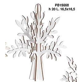 Albero della vita in legno BIANCO componibile da 20 cm BOMBONIERA