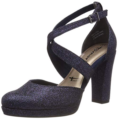 Tamaris Damen 1-1-24406-22 872 Slipper Blau (Navy Glam 872), 36 EU 1 High Heel