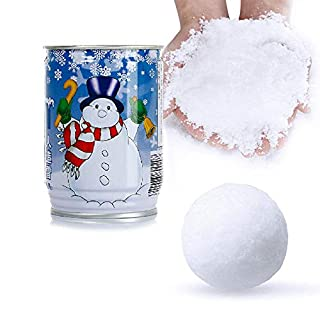 AUOKER Instant Snow Powder for Slime, Magic Snow Powder Make Fake Instant Just Add Water for Snow Christmas Wedding Decor, Fluffy Artificial Snow Perfect for Cloud Slime Supplies, Safe and Non-Toxic