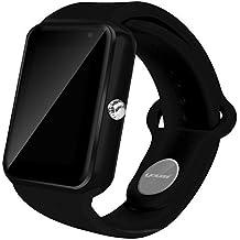 AIYIBEN U7 Bluetooth Touch pantalla Bluetooth 3.0 Smart watch muñeca reloj teléfono reloj para iPhone Samsung Sony LG HTC y mucho más (Black)