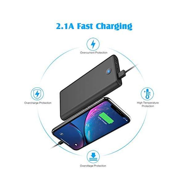 iPosible Power Bank,【Pulsanti Che Cambiano Colore-25800mAh】 Caricabatterie Portatile Batteria Esterna 2 Porte USB Uscita… 5 spesavip