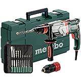 Metabo 600713510 Multihammer UHEV 2860-2 QUICK SET | + Futter SDS-plus, Schnellspannfutter, Handgriff, Tiefenanschlag, Koffer, SDS-plus-Bohrer-/Meißelsatz (10-tlg.) | (3,4 J / 1100 W / 3,3 kg)