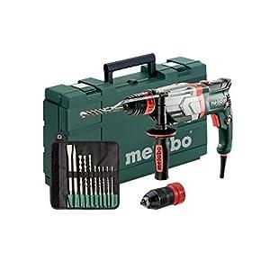 Metabo Multihammer UHEV 2860-2 Quick Set Extrem robust für harten Dauereinsatz– inkl. SDS-plus-Bohrer-/Meißelsatz (10-tlg.)und Koffer 600713510