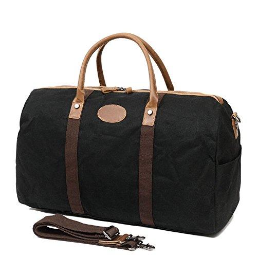 Herren Directional Taschen Reisetasche Taschen Wasserdichte Taschen Ledertaschen Travel Handheld Diagonal Taschen,Black-OneSize -
