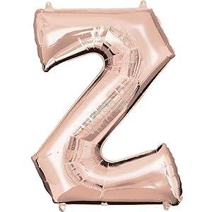 """anagram balón de papel de aluminio 16""""""""-40cm letra Z Rose Gold, Oro, 7a3747711"""