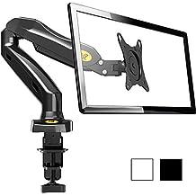 """NB F80 - Support design professionnel pour écrans PC LCD LED 43-69 cm / 17-27"""". Réglage dans plusieurs axes, pivot, qualité supérieure. Ressort à gaz. jusqu'à 6,5 kg"""
